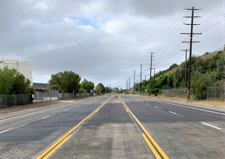 Work on Gaffey Street Completed